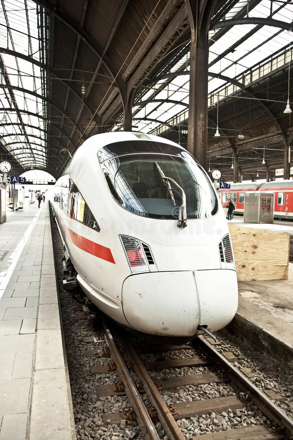 Highspeed train in station. Modern highspeed train in station stock images