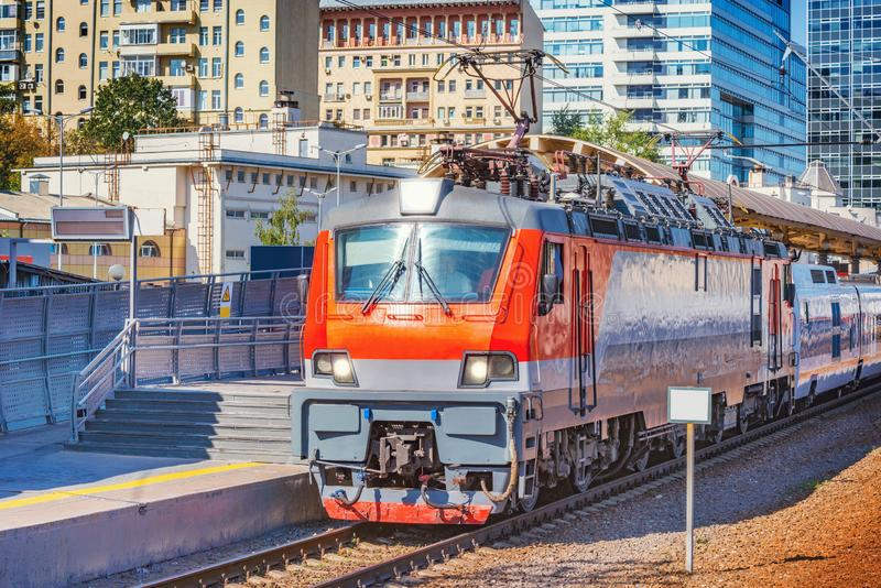 Highspeed train to Nizhny Novgorod is ready to departure. Moscow. Russia stock photos