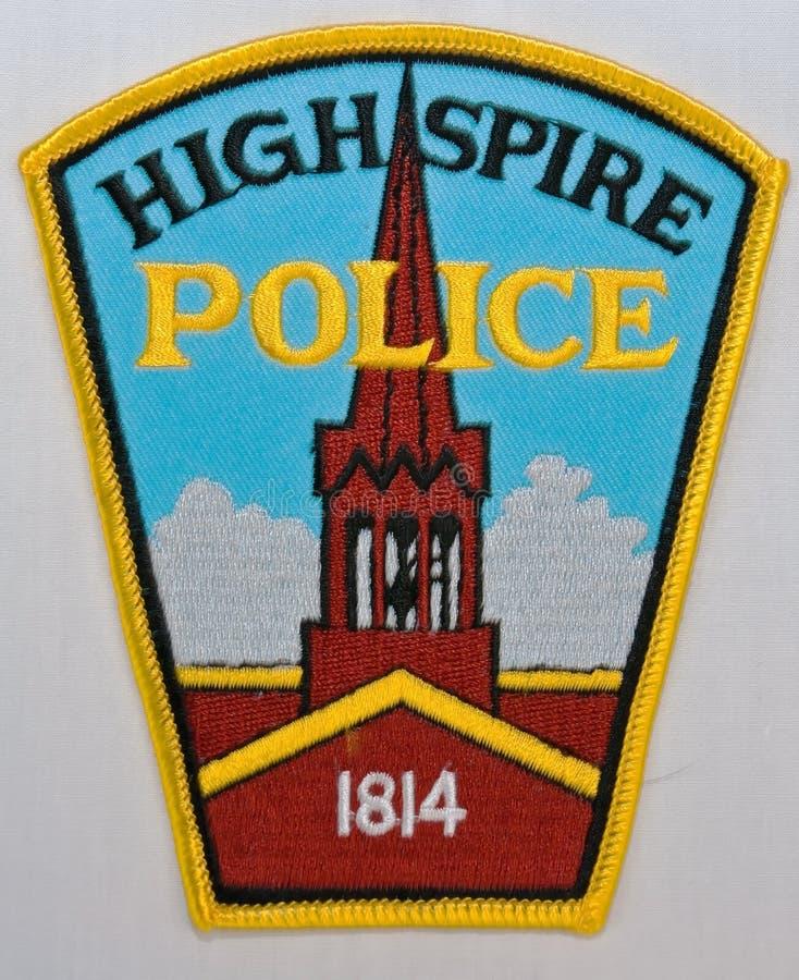 Highspire警察局的肩章在宾夕法尼亚, 库存照片