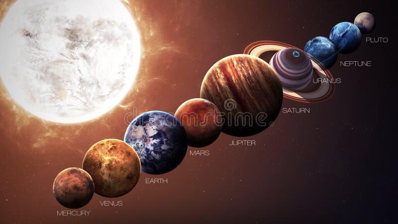 Hight质量被隔绝的太阳系行星 皇族释放例证