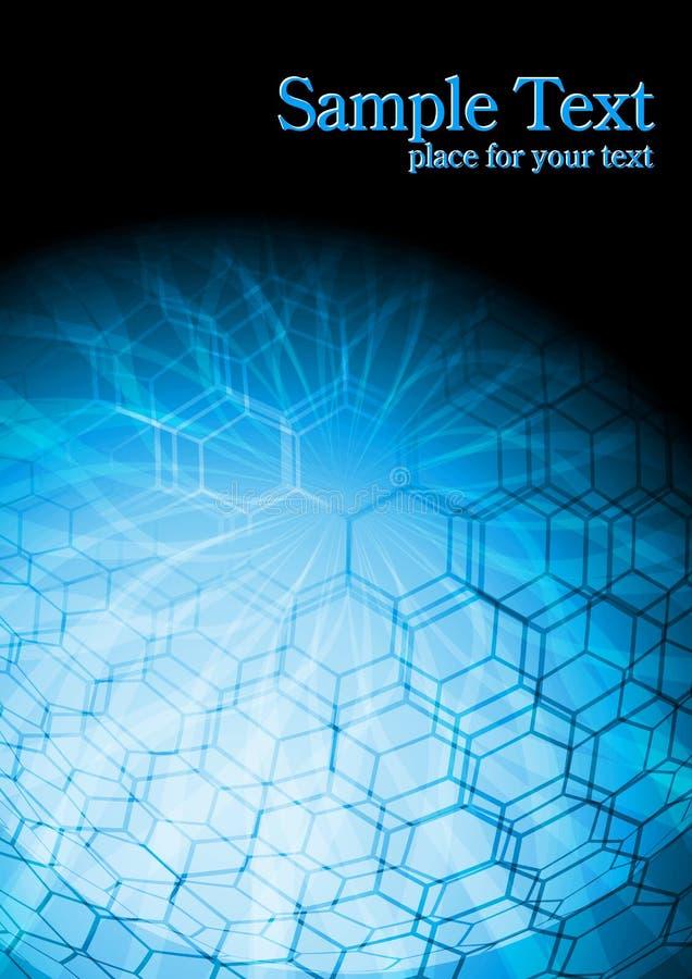Hightech- blauer Hintergrund vektor abbildung
