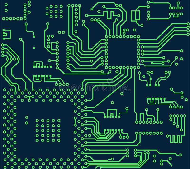Hightech- Brett-Vektorhintergrund der elektronischen Schaltung lizenzfreie abbildung
