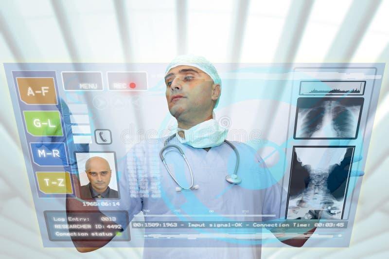 Hightech doctor stock photo