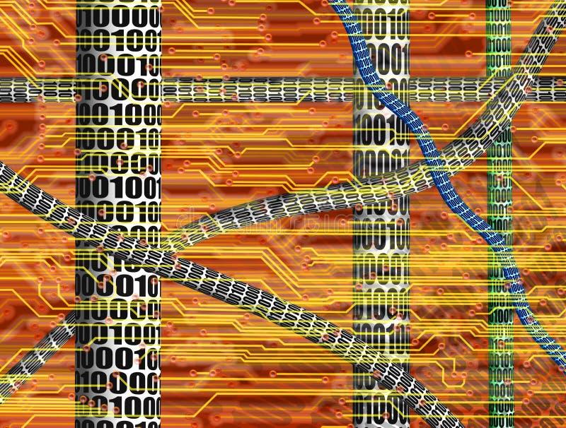 HIGHTECH- ELEKTRONISCHE INDUSTRIE-TECHNOLOGIE-HINTERGRUND lizenzfreie abbildung