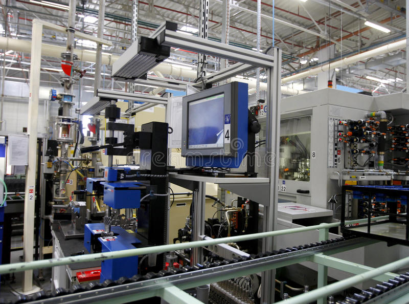 Hightech- Fabrik stockbild