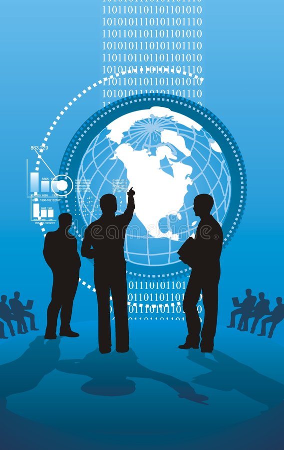 Hightech- Geschäftsdarstellung stock abbildung