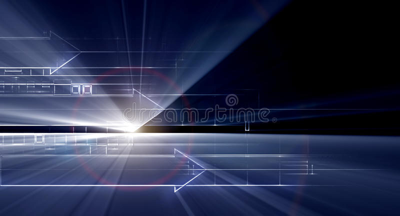 Hightech- Hintergrund stock abbildung