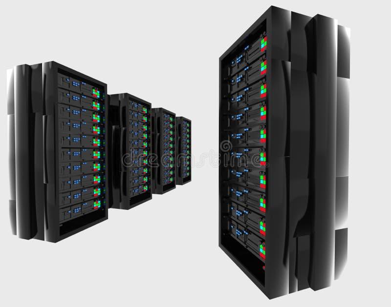 Hightech- Servers vektor abbildung