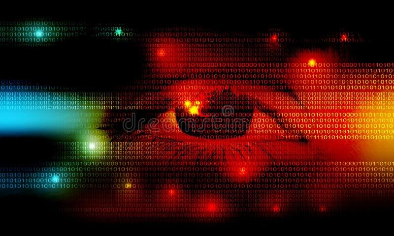 Hightech-Technologie-Hintergrund Kommunikationstechnologie lizenzfreies stockfoto