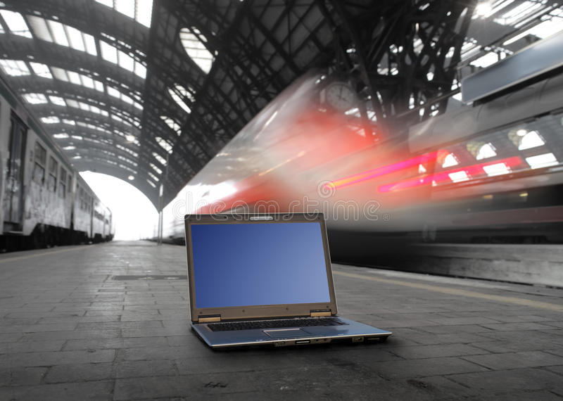 Hightech- und Transport lizenzfreie stockfotos