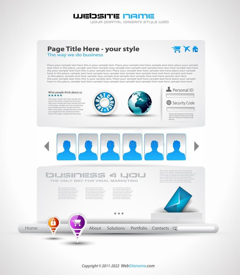 Download HighTech Website - Elegant Design Stock Illustration - Image: 20918605