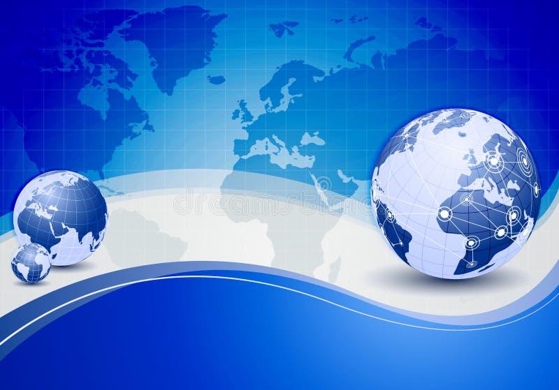 Hightechs-abstrakter Geschäfts-Hintergrund lizenzfreie abbildung