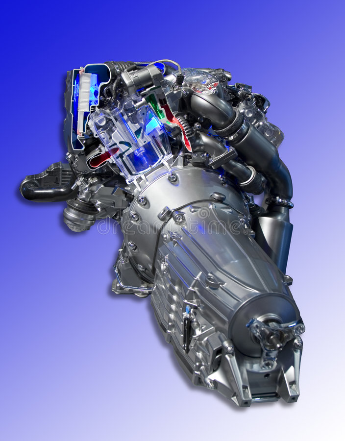 Hightechs-Motor lizenzfreies stockbild