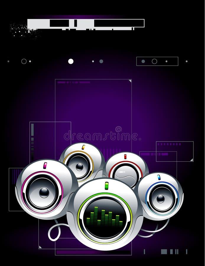 Hightechs-Tonanlage stock abbildung