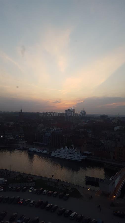 Highview EveningTime, Gdansk Polen lizenzfreie stockfotografie
