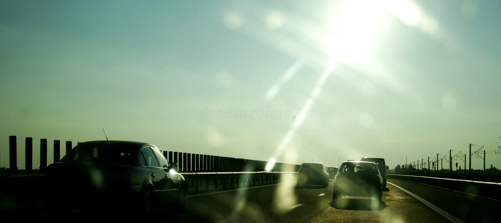 Download On the highway stock image. Image of highway, engine, long - 1256537