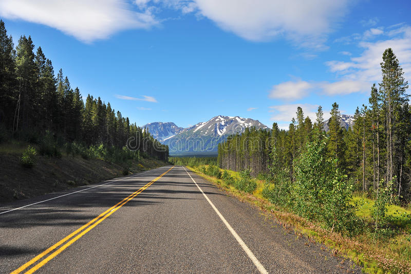 Highway. Stewart cassiar highway in british columbia stock photography