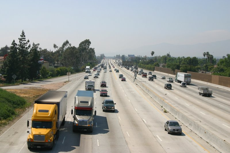 Highway. In USA royalty free stock photography