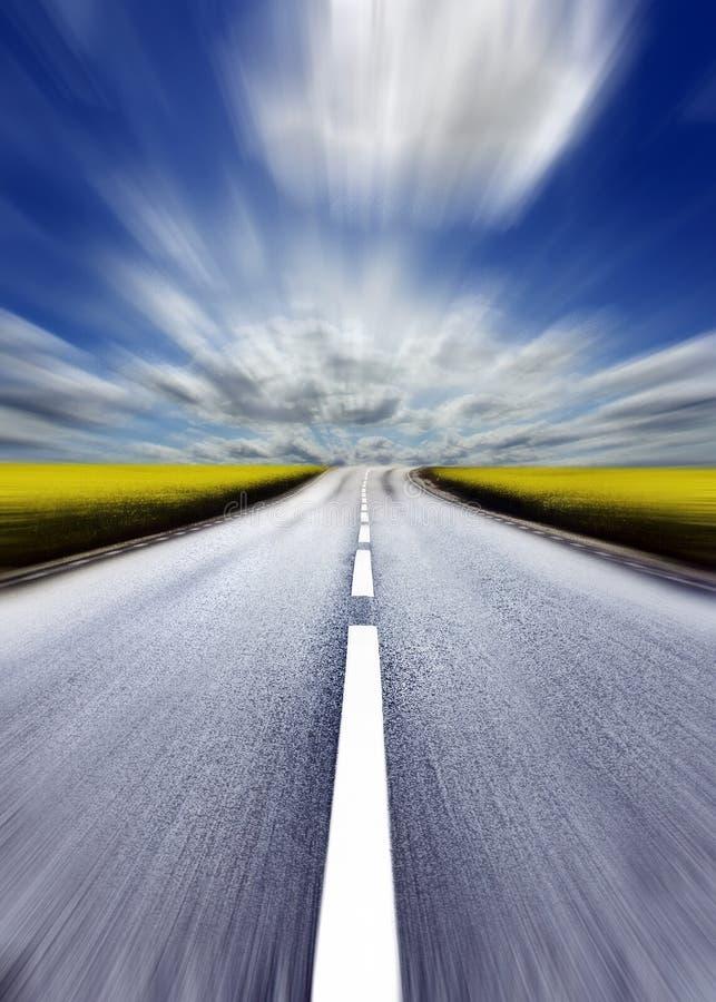 Highway. /motion blur