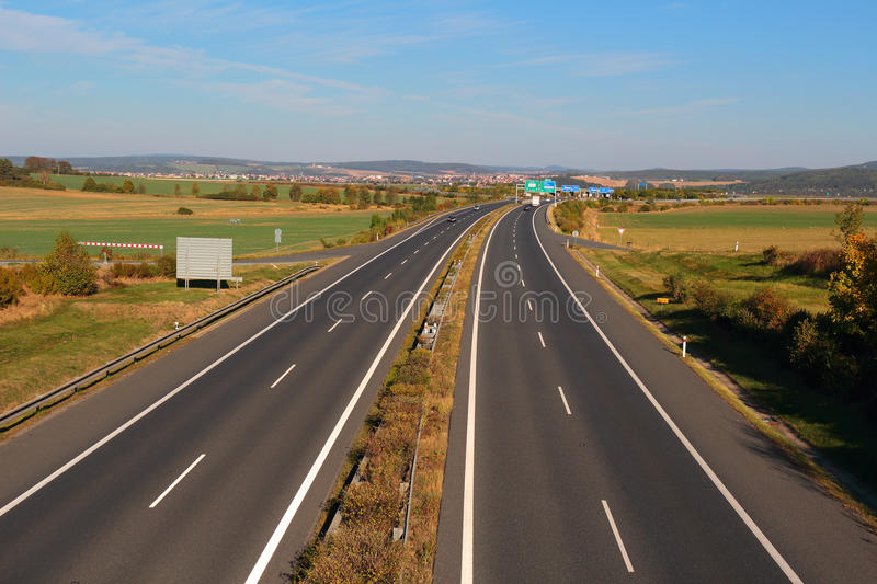 Highway from above royalty free stock image