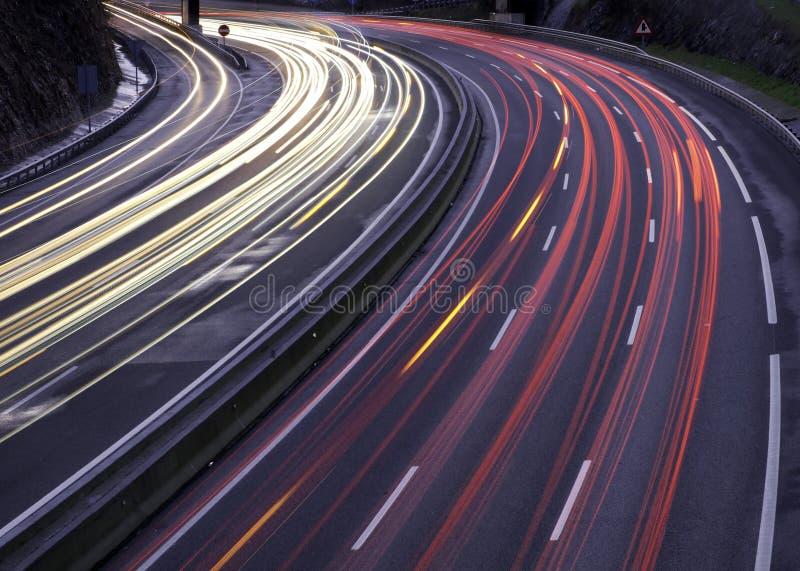 Highway as it passes through Donostia. Euskadi stock photos