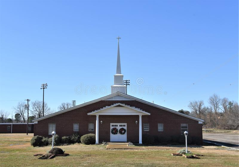 Highway Baptist Church, Southaven, Mississippi. Highway Baptist Church in Southaven, Mississippi is a Christian congregation serving the Southaven community and stock photos