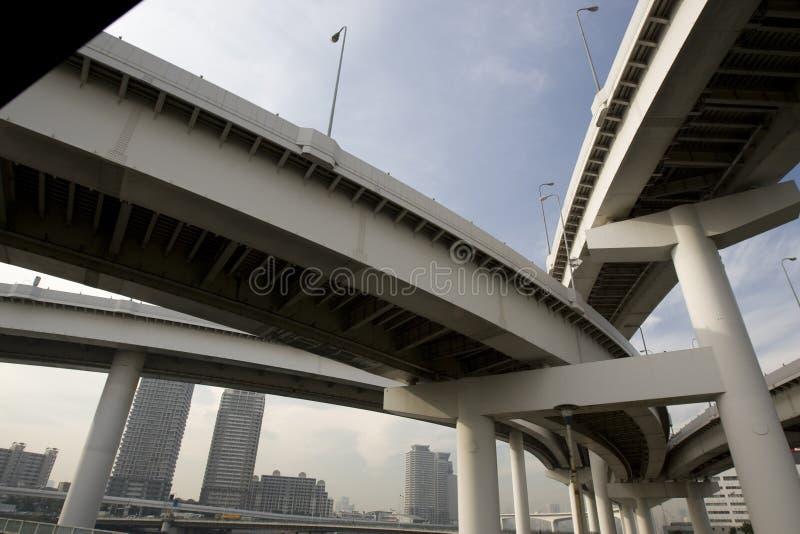 Highway bridges in city stock photos