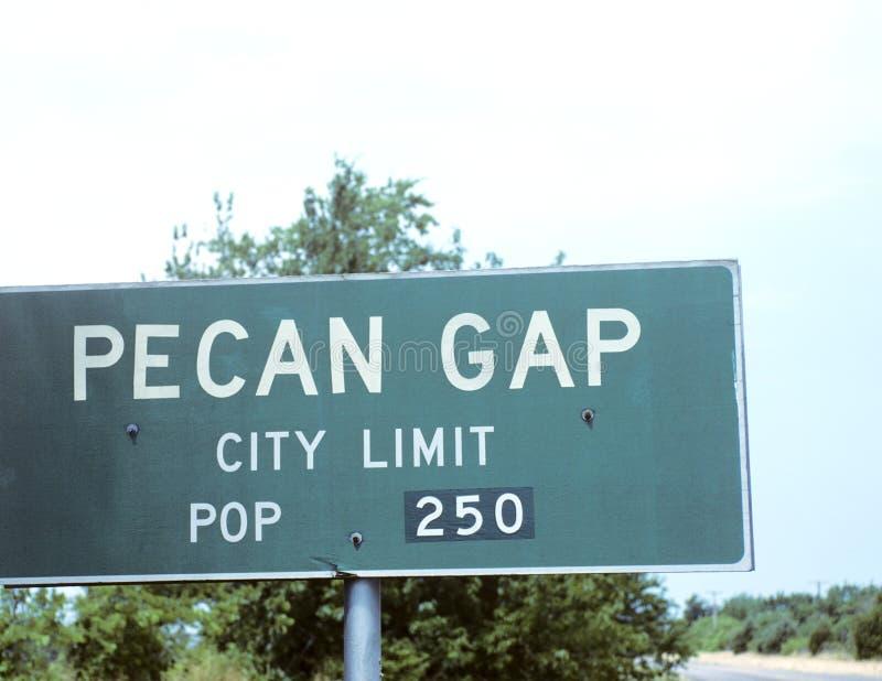 Highway City Limit Sign stock photos