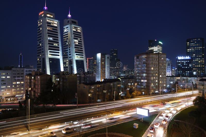 Highway Through City At Night Free Public Domain Cc0 Image