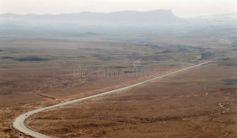 Highway in desert. royalty free stock image