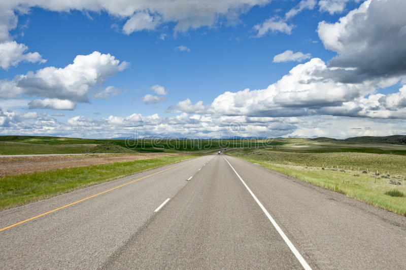 Highway Distant View Royalty Free Stock Images