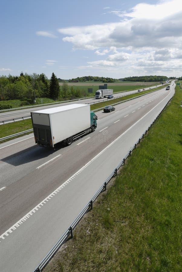 highway dostawy van fotografia royalty free