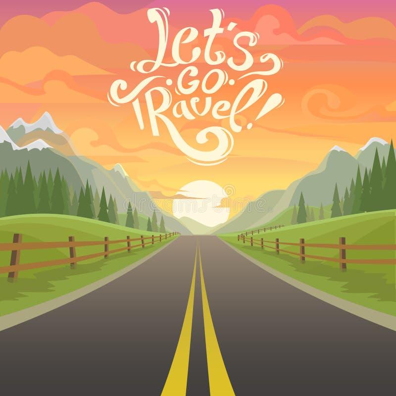 Highway drive vector illustration