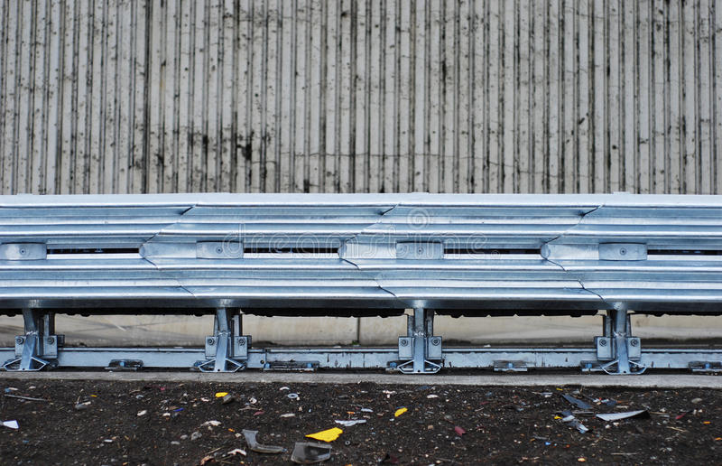 Highway guardrail royalty free stock photos