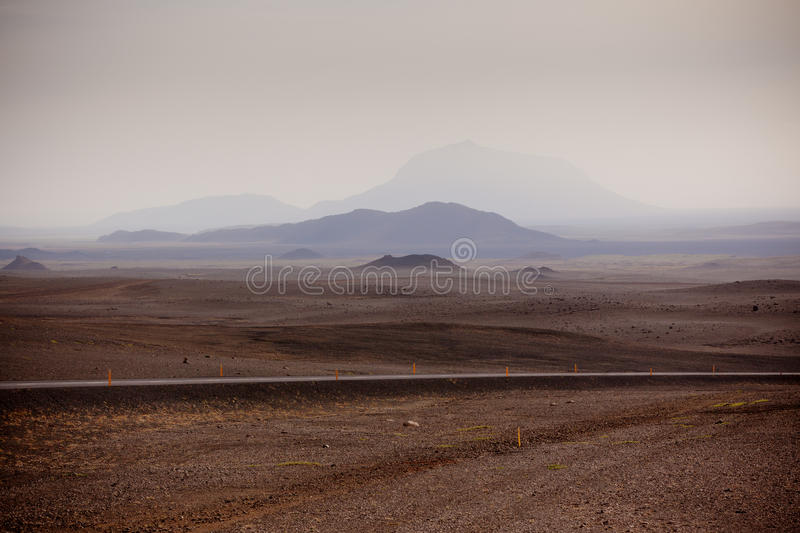 Highway through Iceland Mountains landscape royalty free stock photography