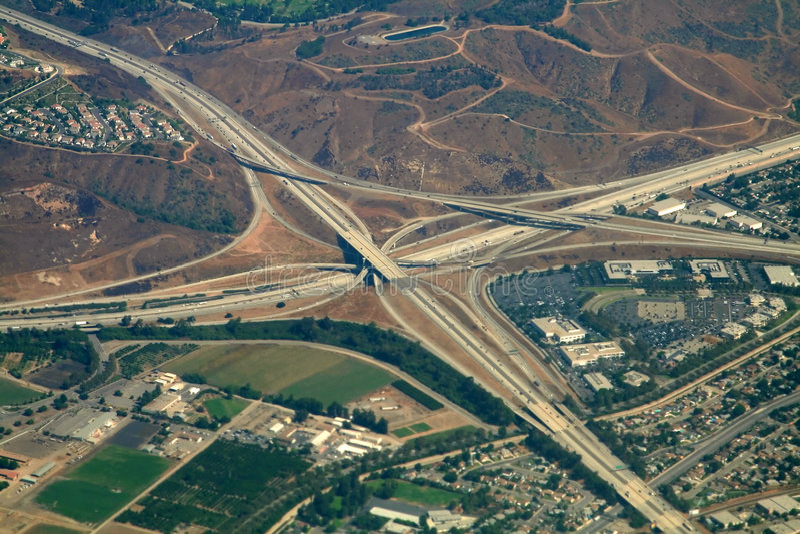 Highway interchange royalty free stock image