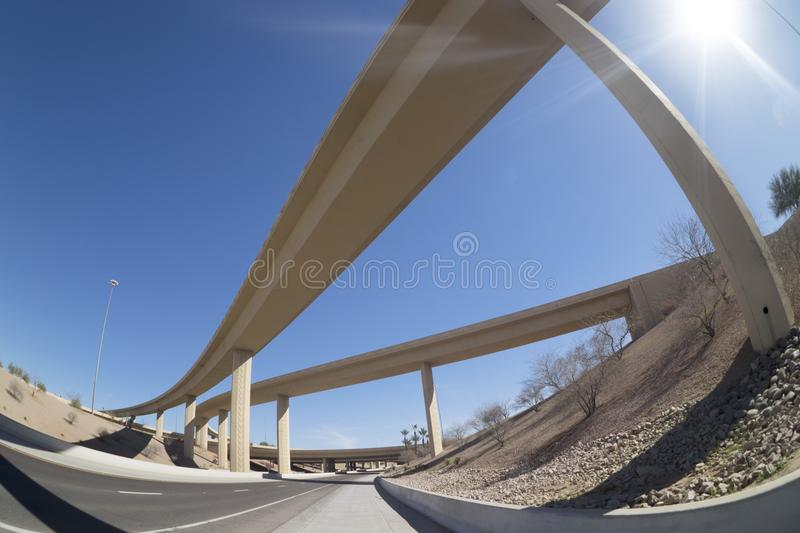 Highway intersection bridge royalty free stock photography