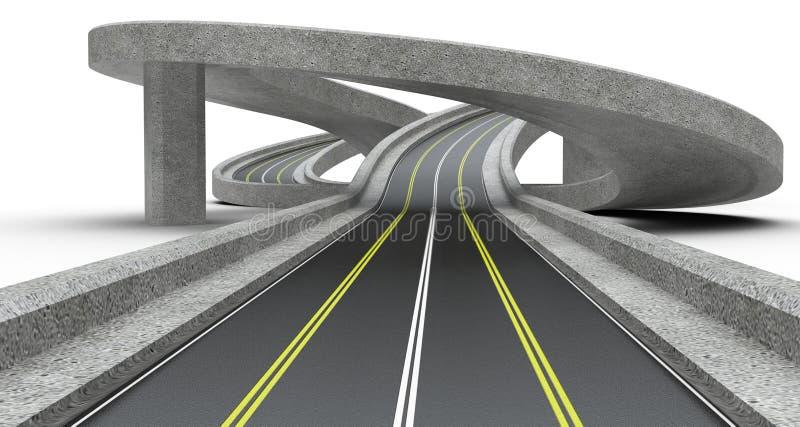 Highway junction, overpass. 3D Illustration high resolution vector illustration