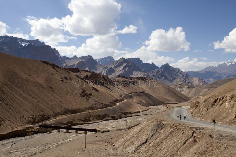 Highway in Ladakh stock photo