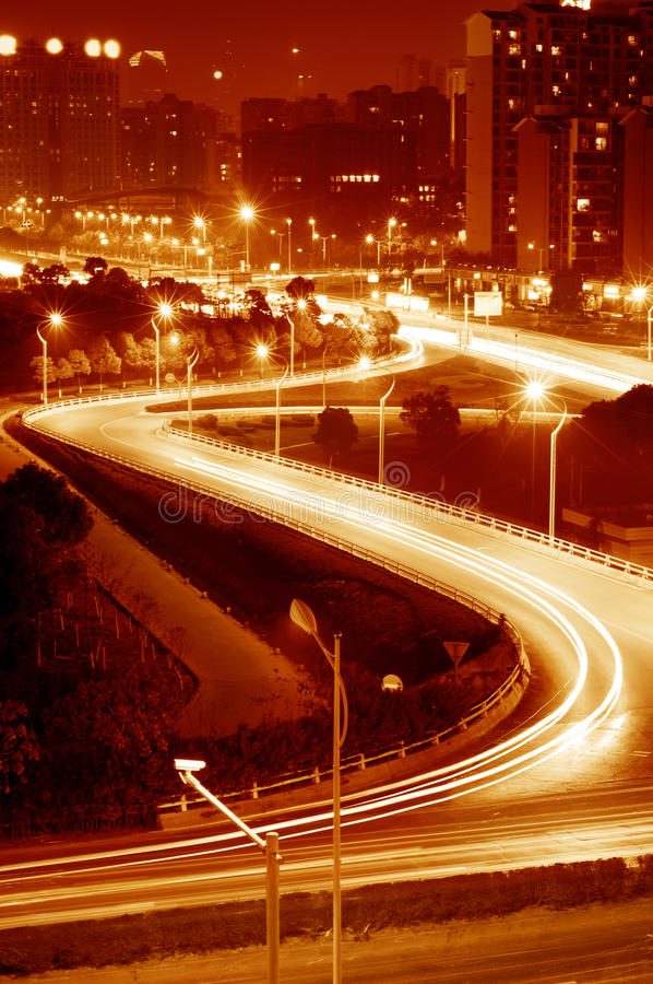 Download Highway light trails stock image. Image of blur, motion - 22550277