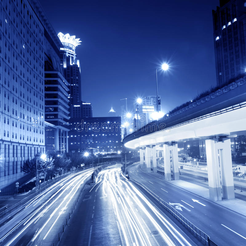 Free Highway Light Trails Stock Images - 23287184