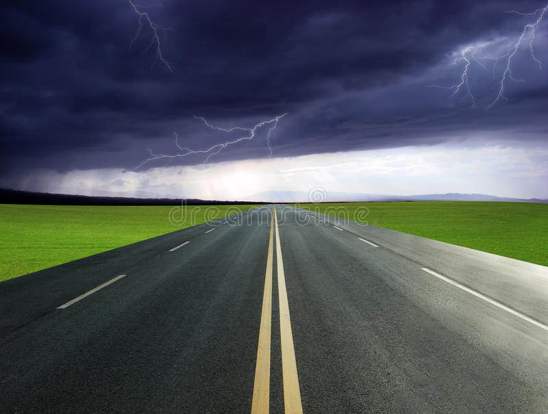 Highway Lightning stock images