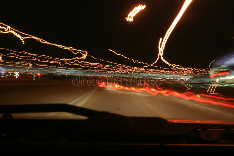 Highway lights royalty free stock images