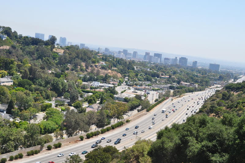 Highway in Los Angeles stock photos