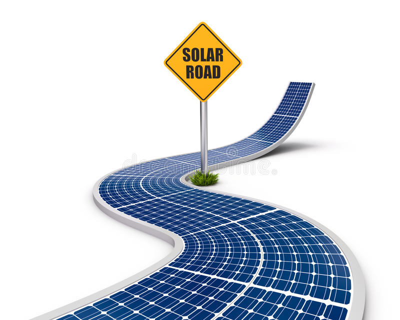 Highway made from the solar panels vector illustration