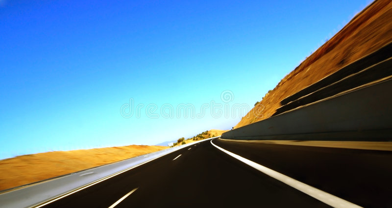 Highway motion royalty free stock images