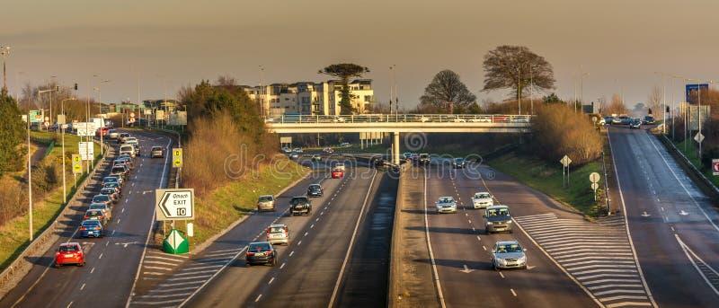 Highway motorway ring road Cork City Ireland transport traffic. Amazing view royalty free stock images