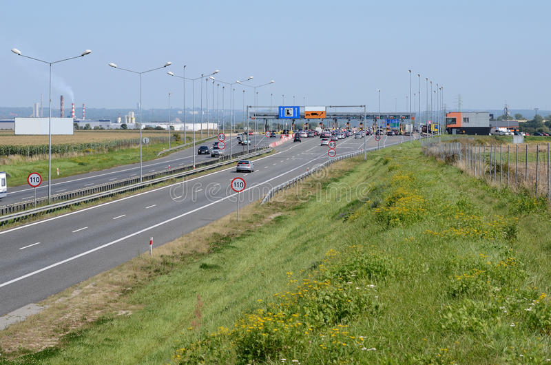 Highway A4 near Gliwice in Poland. Silesia region stock images