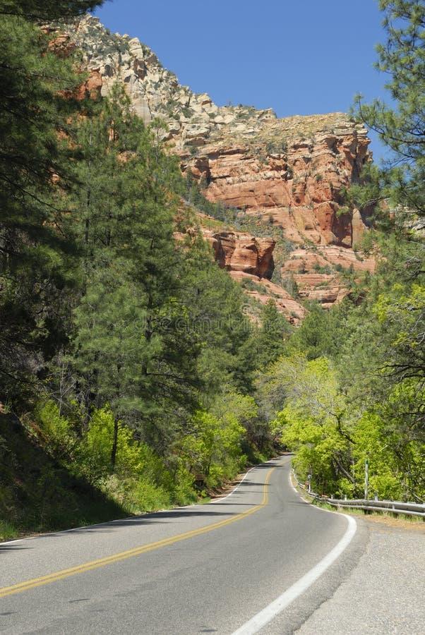 Highway near Sedona, Arizona royalty free stock photos