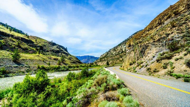Highway 8 through the Nicola River Valley between Merritt and Spences Bridge in British Columbia. Canada stock photo